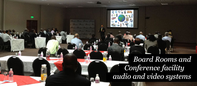 Boardroom and conference facility audio and video systems